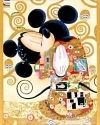 """""""The Hug"""" di Corinne Giampaglia, olio su tela; ispirato a """"Fregio Stoclet"""" 1905/9 di Gustav Klimt"""