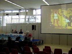 La conferenza di Goria su Jacobs a Torino Comics 2000, immortalata per un sito specialistico belga - click