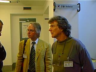 Eckart Sackmann & David Kunzle in Fumettopolis, Torino, Italia, 1998