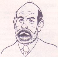 Caricatura di Bruno Concina. Disegno di Luciano Milano.